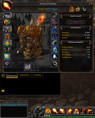Fire mage details